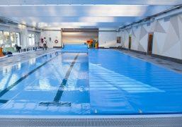 Blue poolcovers afdekking voor zwembaden